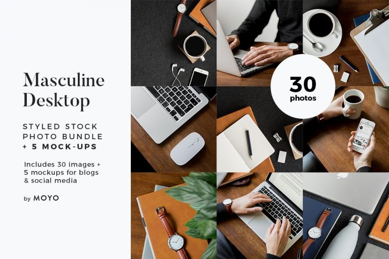 MOYO Studio - Styled Stock Photos - Masculine Work & Desktop