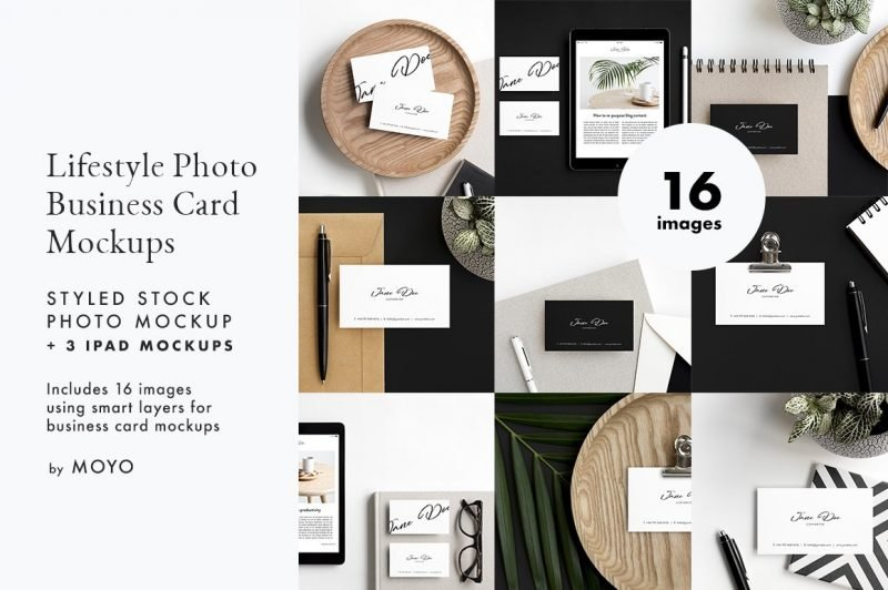 MOYO Studio - Business Card & iPad Lifestyle Photos & Mockups
