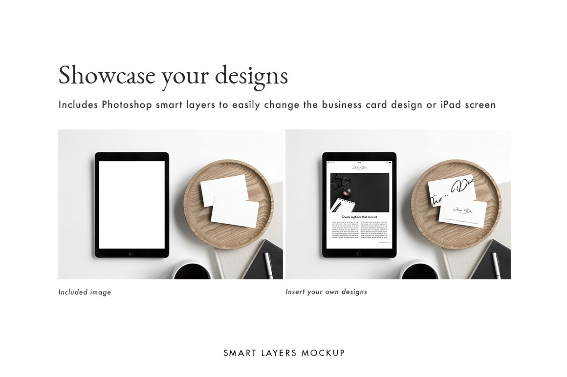 Moyo studio styled stock photos business card ipad mockups business card ipad photos mockups reheart Images