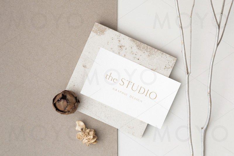 MOYO - Sand Business card photo mockups