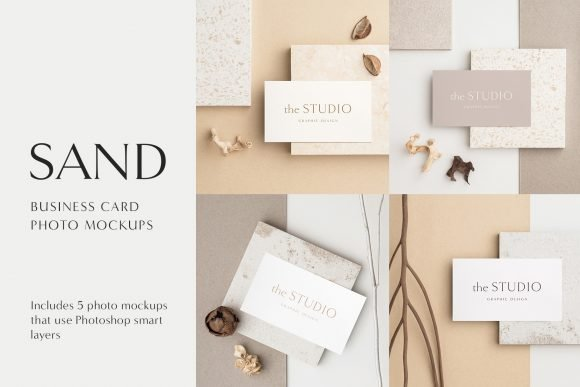 MOYO - Sand Business card photo mockups