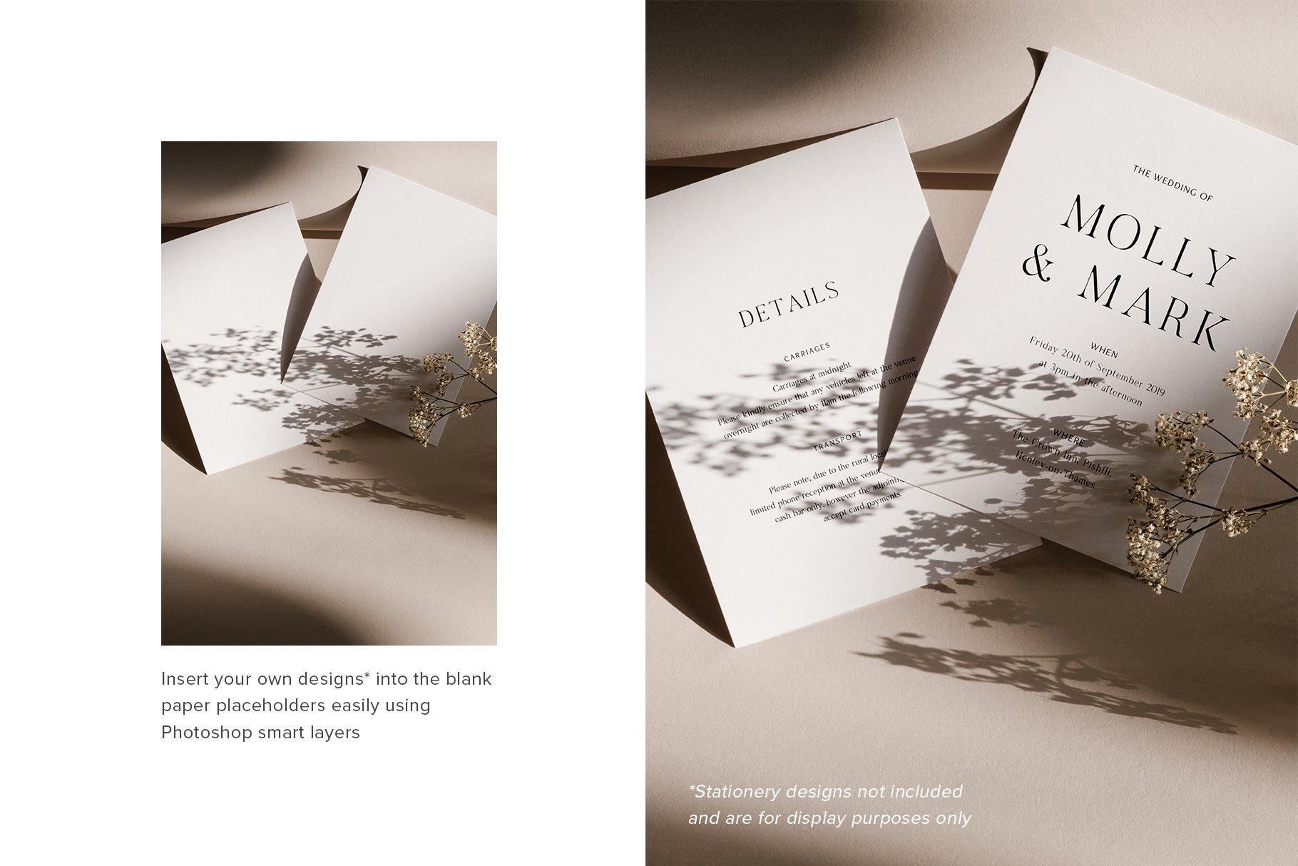 Download Mila 5x7 Stationery Photo Mockup Bundle Moyo Studio PSD Mockup Templates